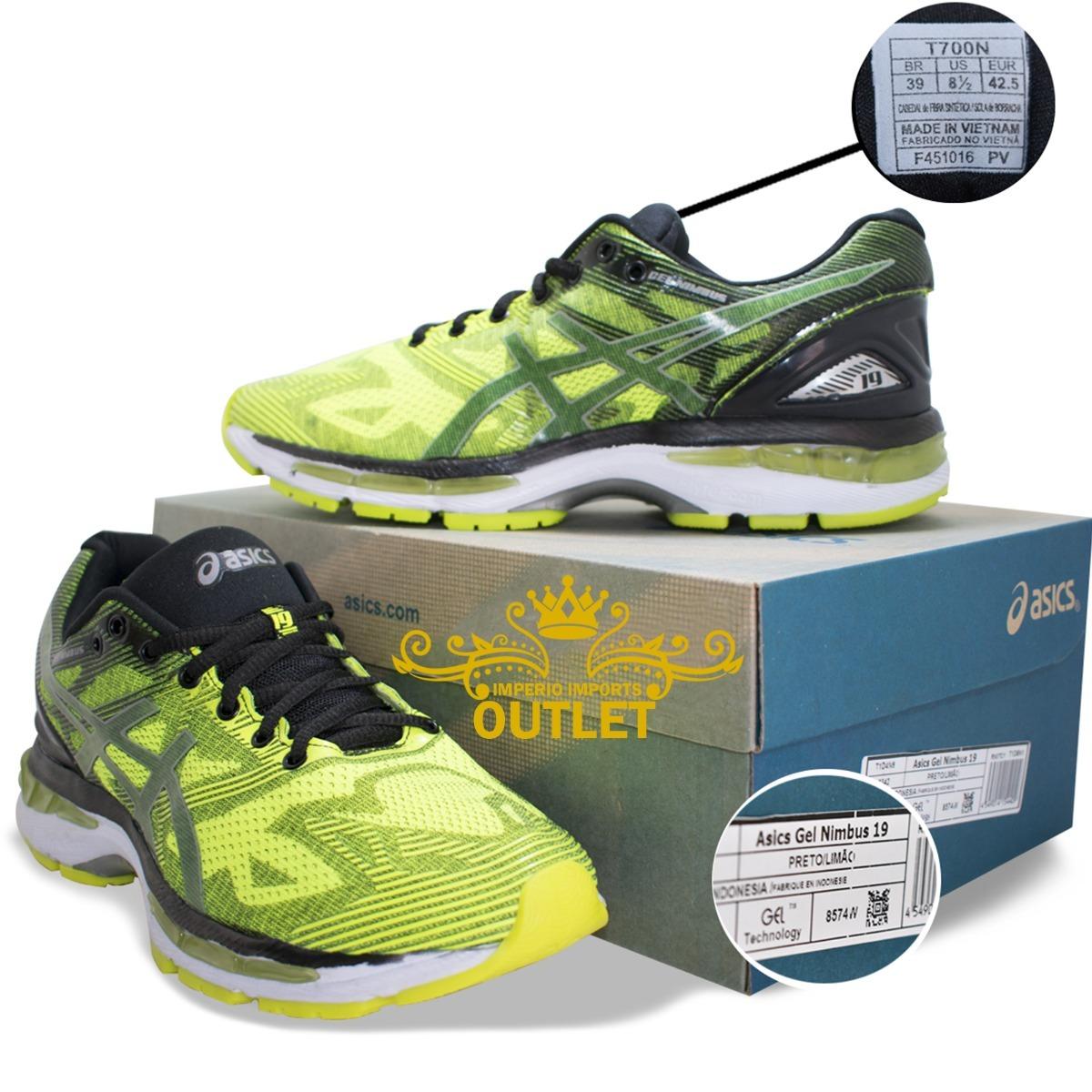 Asics Gel Nimbus 19 Corrida E Caminhada Lançamento  71511023 - R ... 5c0a6f256d899
