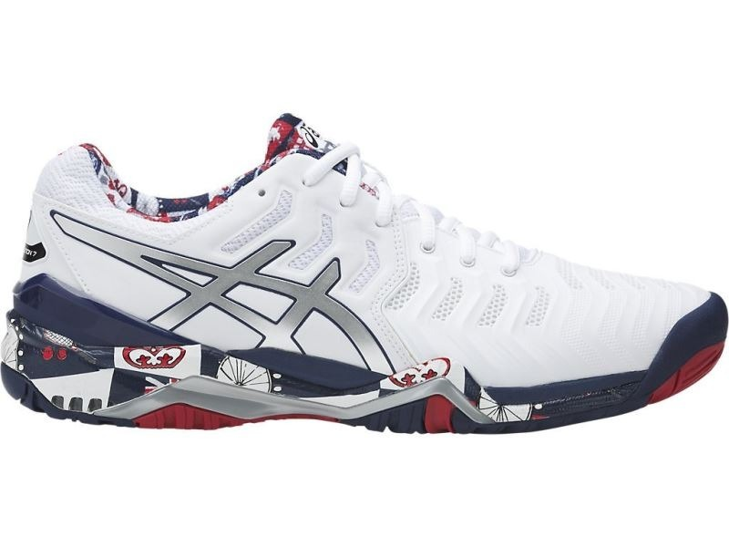 Carregando zoom... tênis asics gel resolution 7 ed. london wimbledon  masculino a621374df010a
