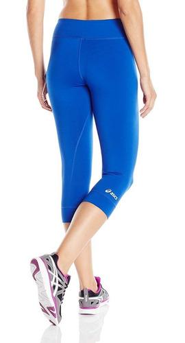 asics team 3/4 tight leggings azul xs