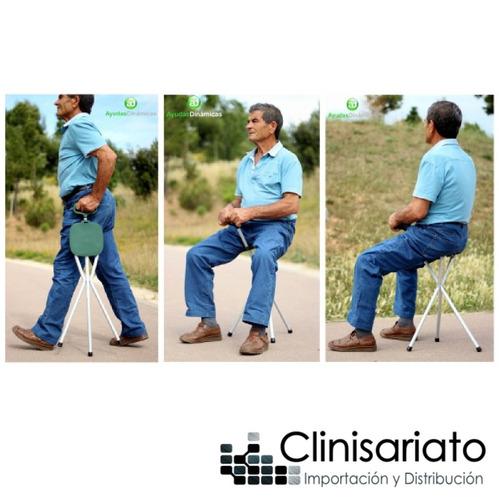 asiento bastón ortopédico 2 en 1