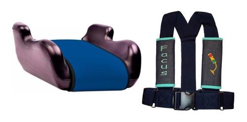 asiento butaca booster + arnes cinturon seguridad niño auto
