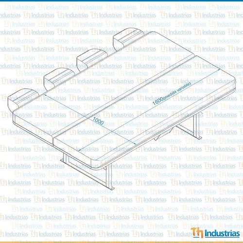 asiento cama cuadruple para furgón o motorhome