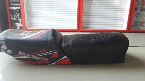 asiento cojín horse empire moto doble piso material de prime