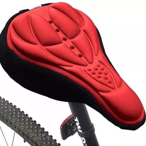 asiento cubre asientos bicicleta silicon neopreno rojo d1049