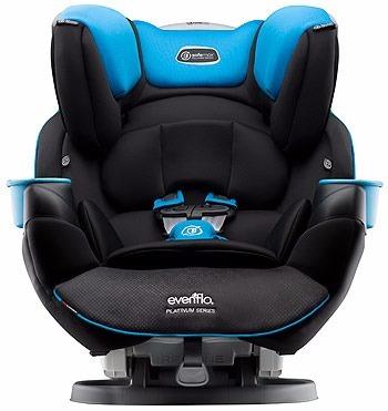 asiento d carro bebe a niño reclinable evenflo platinum azul