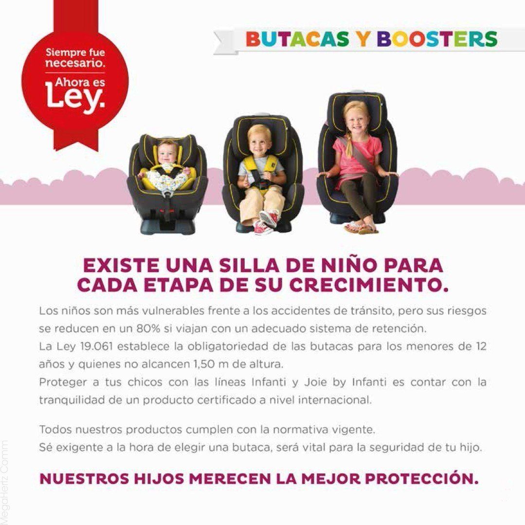 Asiento Elevador Infantil Para Auto Booster Infanti 15 36