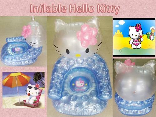 asiento inflable hello kitty playa decoración bebe niña hoga