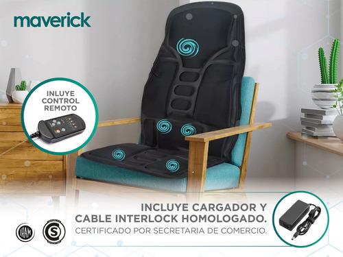 asiento masajeador cervical espalda muslos maverick