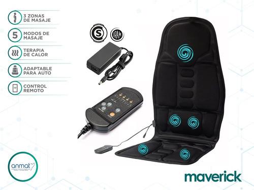 asiento masajeador espalda 5 motores maverick
