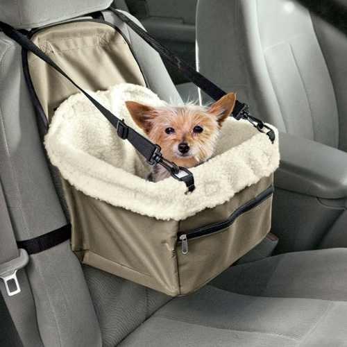 asiento mascota auto canasta viaje perro gato / ekipofertas