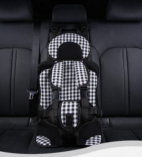 asiento para auto infantil ligero portátil tartán negro