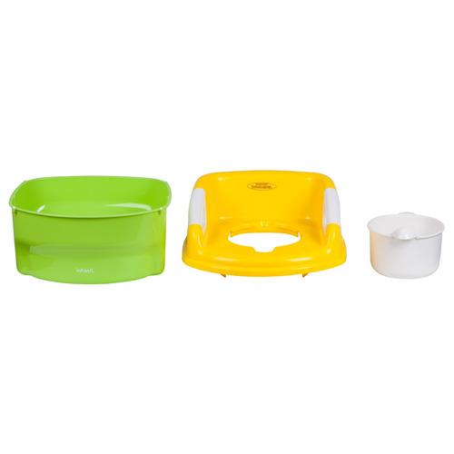 asiento para baño 3 en 1 potty green infanti
