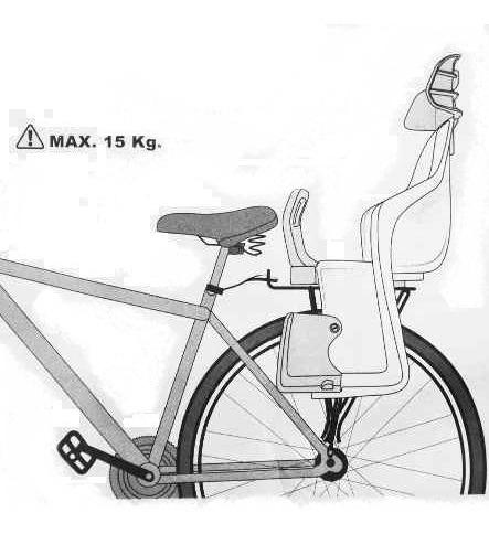 asiento para niños p/ bicicleta trasera maxxum de lujo