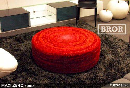 asiento puff de lana mini-zero. ø50x20cm [bror]