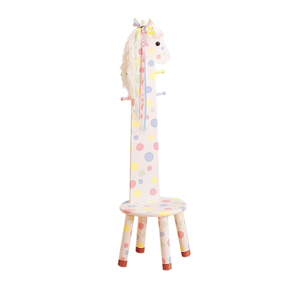 Asiento taburete con perchero silla para ni os teamson for Perchero pared infantil