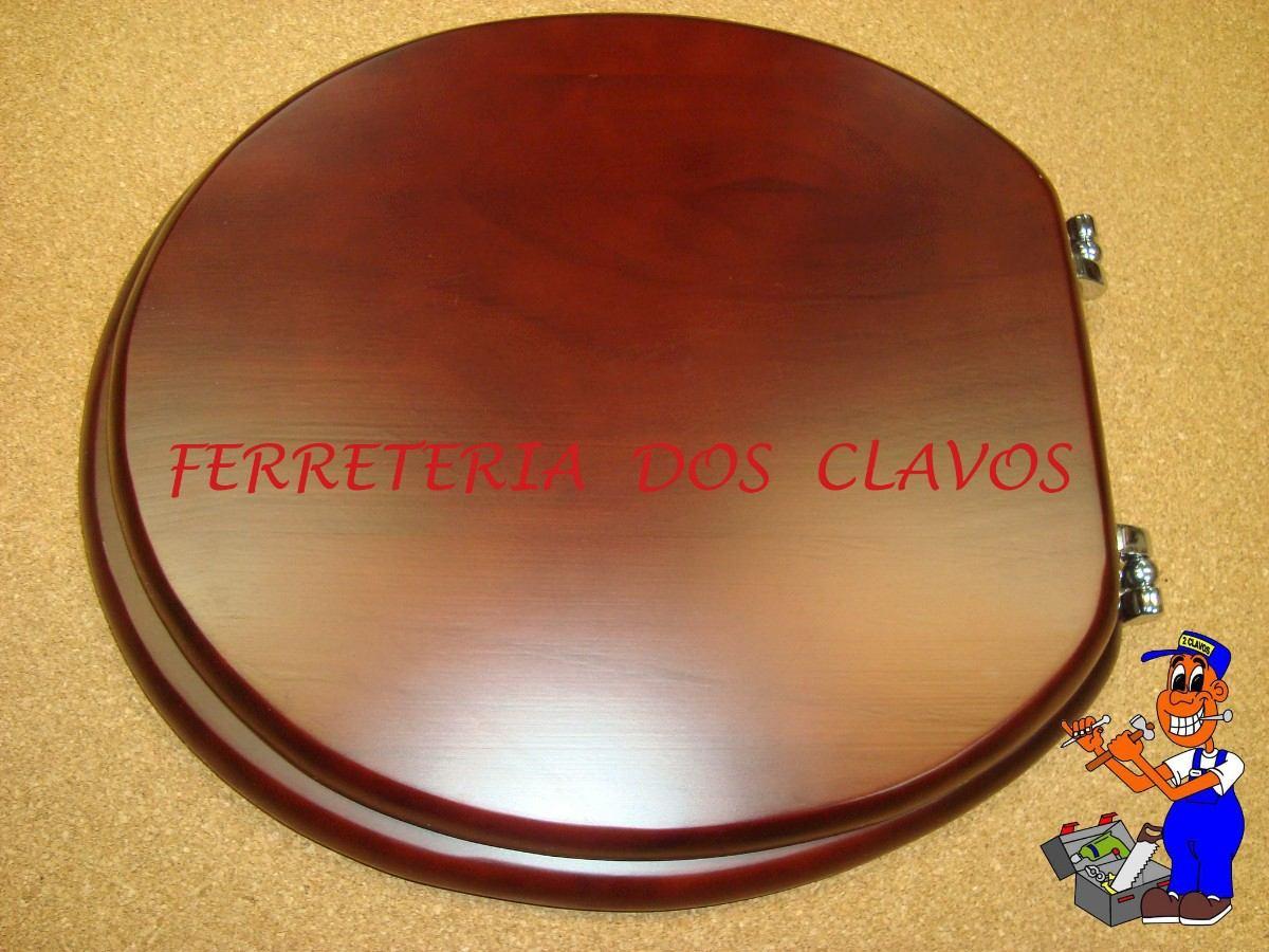 Muebles De Baño Water:Asiento Tapa Para Inodoro Water De Madera Herrajes De Metal – $ 1750