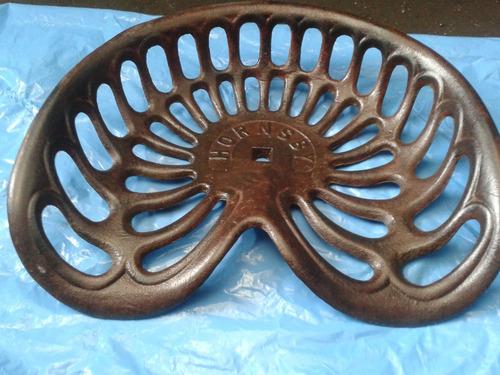 asiento  tractor antiguo exclusivo hierro reproducimos