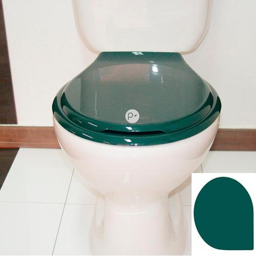 asiento universal para sanitario redondo, verde oscuro
