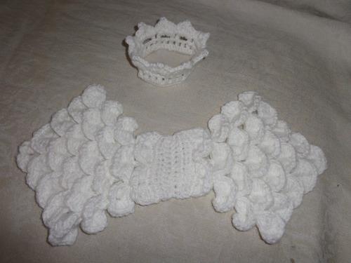 asinha e coroa de anjinho newborn