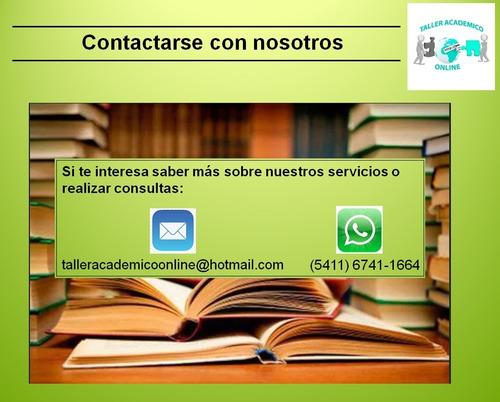 asistencia en tesis, tesinas, trabajos integrales.. consulte
