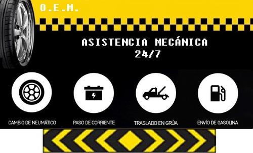 asistencia mecánica (grúa, neumático bajo, batería),