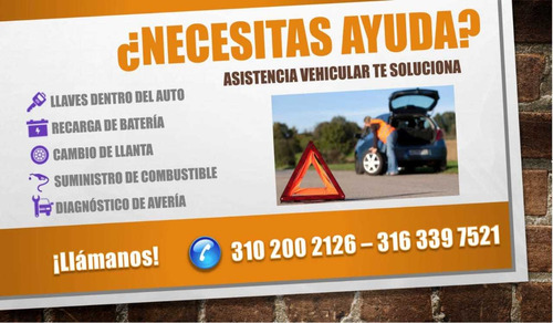 asistencia técnica vehicular, desvares,  aperturas y diagnós