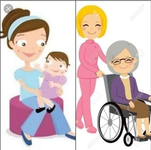 asistente para el cuidado de ancianos o niños