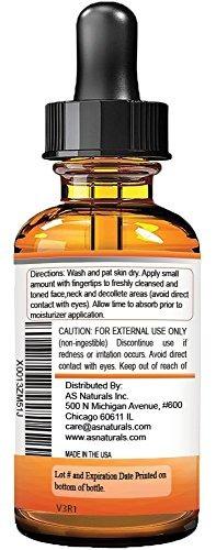 asnaturals - serum de vitamina c 20% con ácido hialurónic