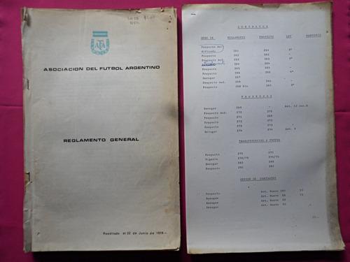 asociacion del futbol argentino - reglamento general