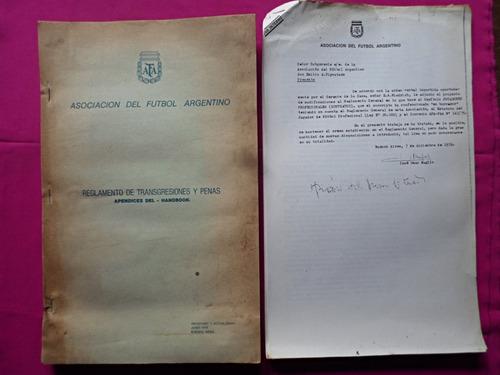 asociacion del futbol argentino - reglamento transgresiones