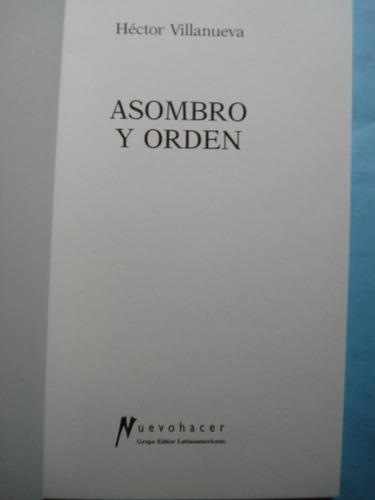 asombro y orden. estado de nuevo.  1° edición