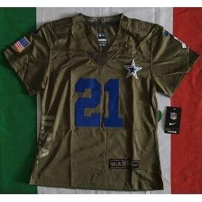 online store 4a455 9167c Asombros Jersey Elliott Dallas Cowboys Dama Salute Service