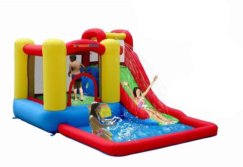 asombroso brincolin inflable de agua splash tobogan alberca