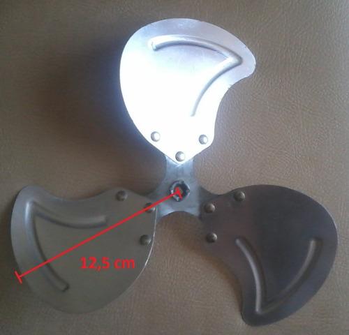 aspa ventilador 3 aletas de aluminio (5$)