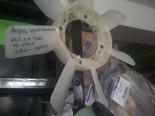 aspa/ventilador hilux4x4 dyna 98 (16361 - 38010)100%original