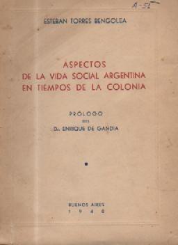aspectos de la vida social argentina en tiempos - libros