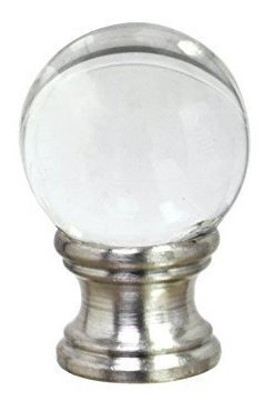 aspen creative 24014remate de bola de vidrio transparente e