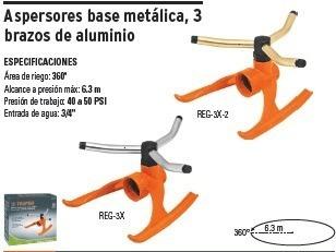 aspersor con brazos de aluminio, truper 10303