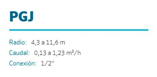 aspersor hunter pgj ultra riego arco ajustable radio 4 a 11m