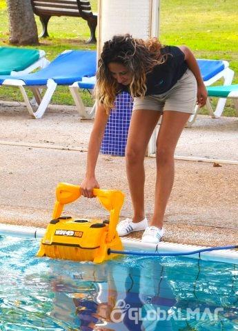 aspirador automático para piscina dolphin wave 100 sibrape