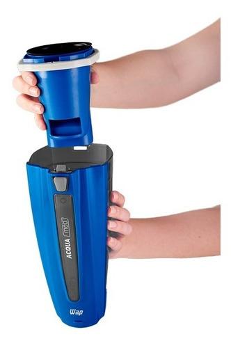 aspirador de pó e água 2em1 bateria 14,8v 2ah acqua mob wap