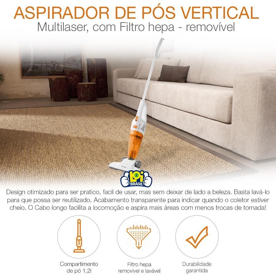 4ad9f5d9a Aspirador De Pó Vertical 2 Em 1 110v Multilaser Ho011 Loi - R  137 ...