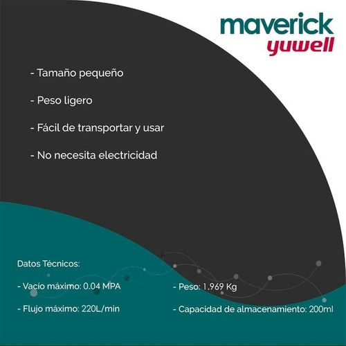 aspirador de secreciones manual 7b-1 maverick