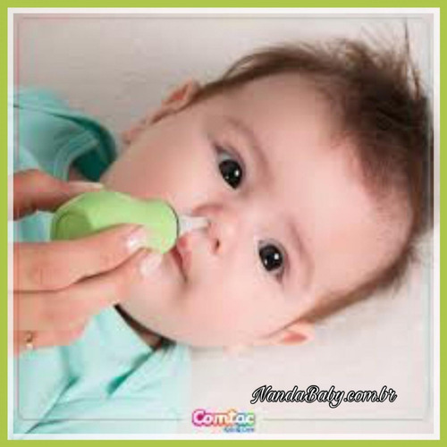 aspirador nasal com ponta de silicone - comtac kids