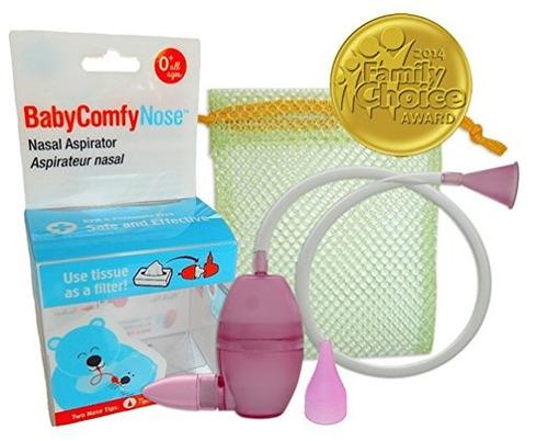 aspirador nasal limpiador nariz cuidado bebé babycomfy rosa