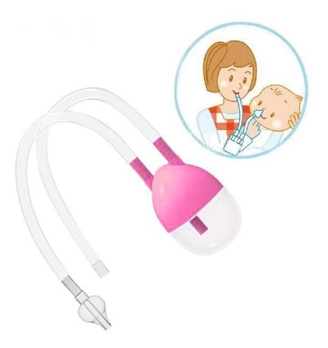 aspirador nasal saca moco bebe succion rosado o amarillo