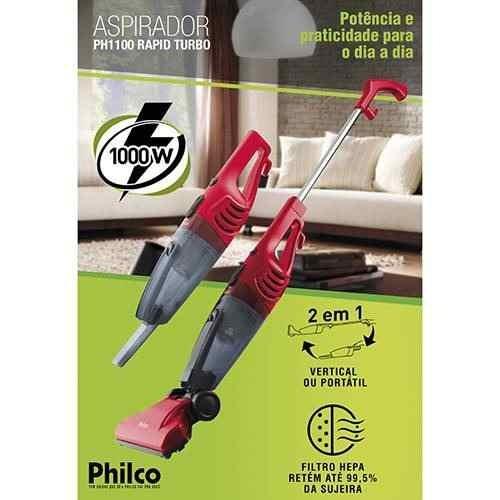 aspirador pó de philco rapid 1100 1000w 110v