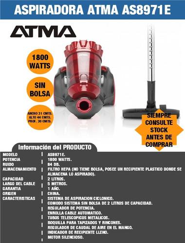 aspiradora as8971e 1800watts atma
