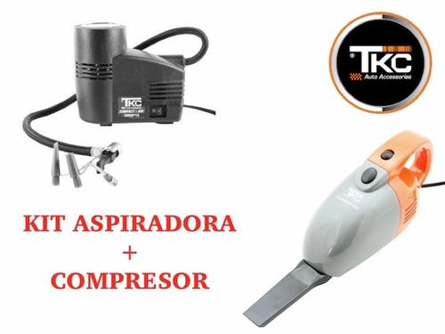 aspiradora + compresor para carro tkc 12v 300 psi + obsequio