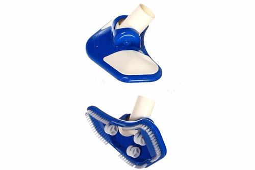 aspiradora de fondo+cepillo+canastilla+tubo kit deluxe intex